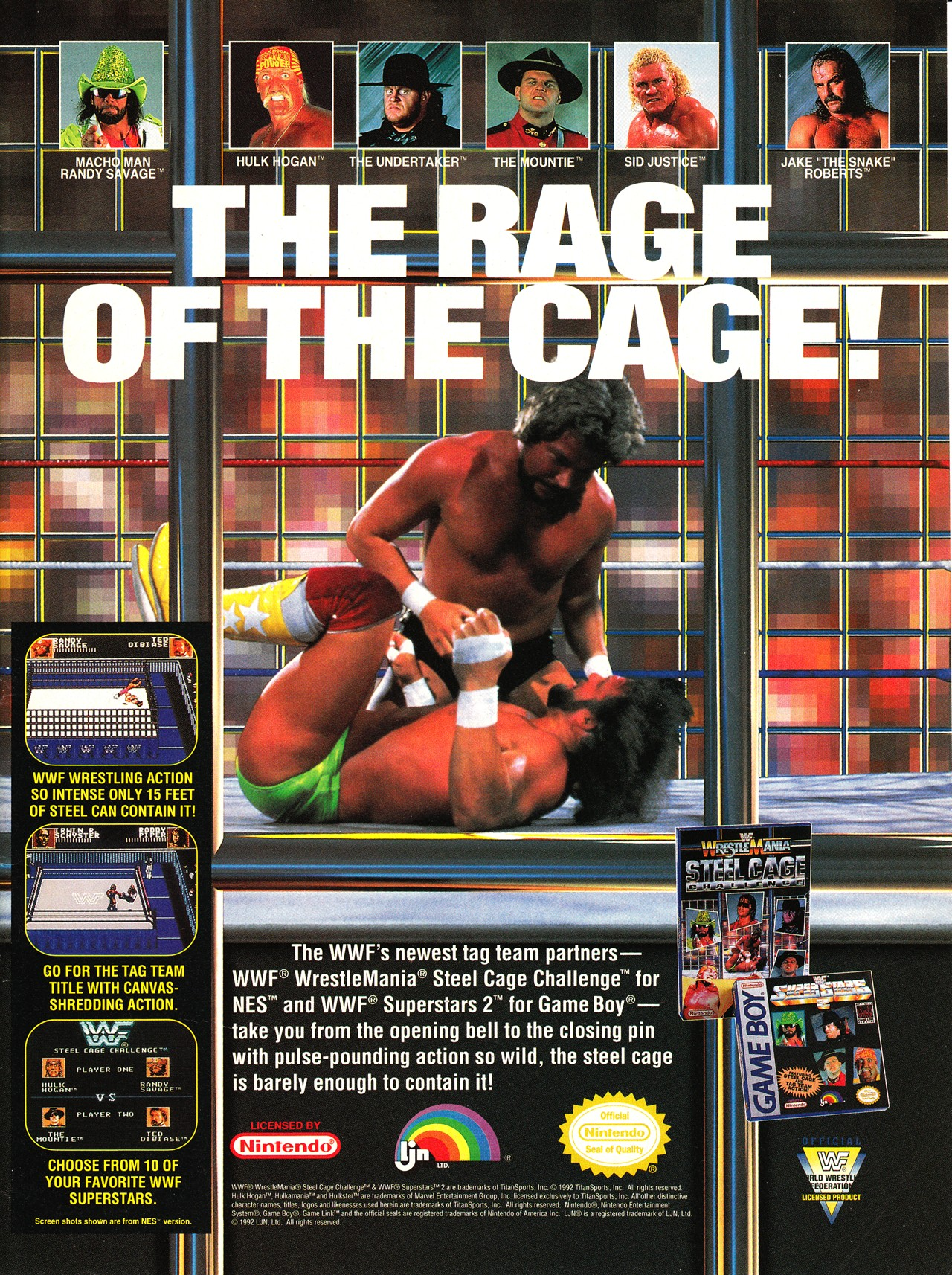 Video Game Ad Of The Day Wwf Wrestlemania Steel Cage Challenge