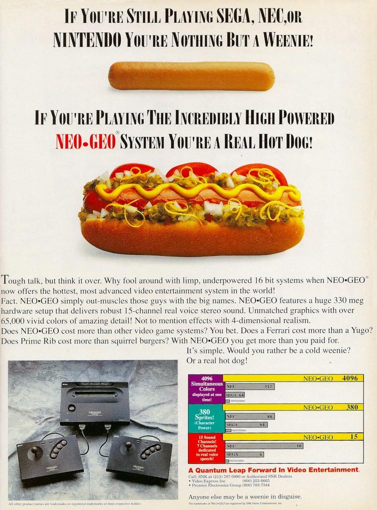 Neo Geo System Ad