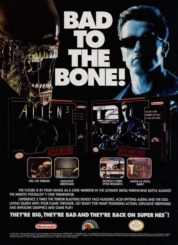 Alien 3 Terminator 2 SNES