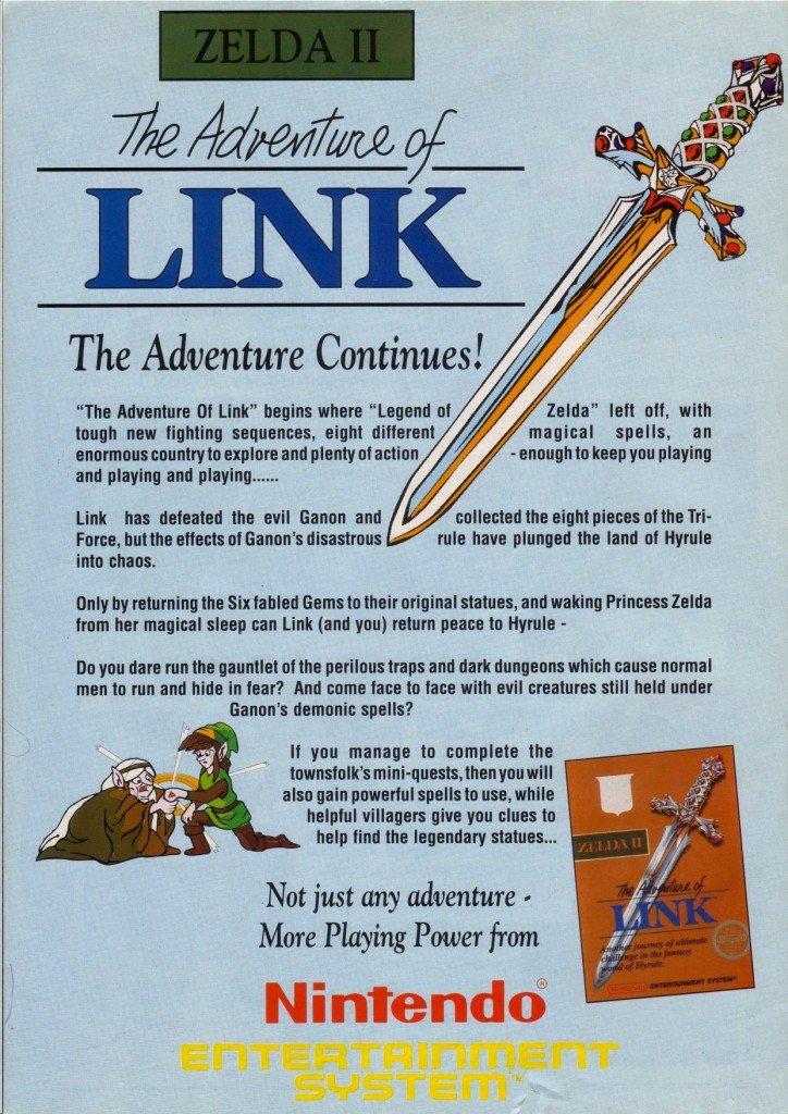Zelda II The Adventure of Link UK