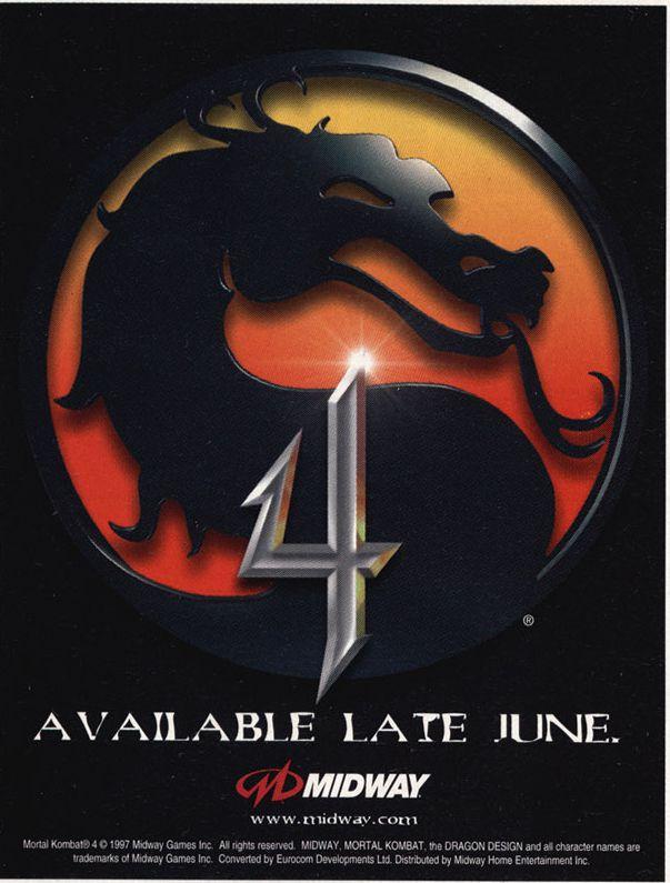 Mortal Kombat 4 Teaser
